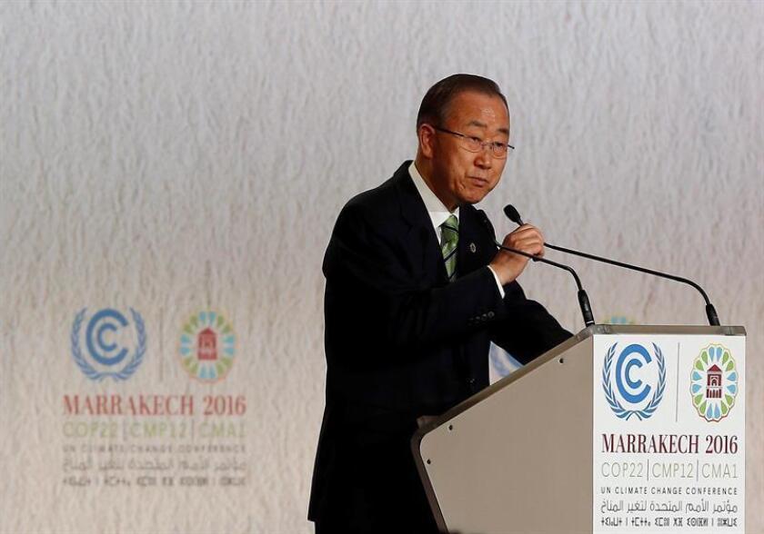 """El secretario general de la ONU, Ban Ki-moon, aseguró hoy que el respeto por los derechos humanos en cualquier país """"beneficia a todos"""", ya que promueve el bienestar de cada individuo, proporciona estabilidad a la sociedad y armonía al mundo interconectado. EFE/ARCHIVO"""