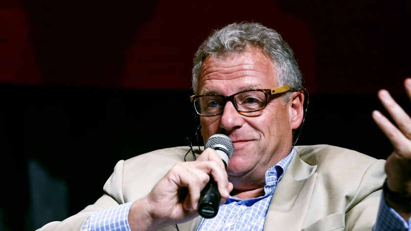 "Jonathan Spink, CEO of HBO Asia, attends the ""2nd Global Film Industry Value Chain Development Forum"" during the 18th Shanghai International Film Festival on June 15, 2015."