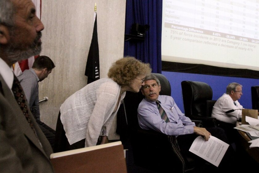 Los Angeles County Supervisor Zev Yaroslavsky at the board's meeting Tuesday at the Kenneth Hahn Hall of Administration.