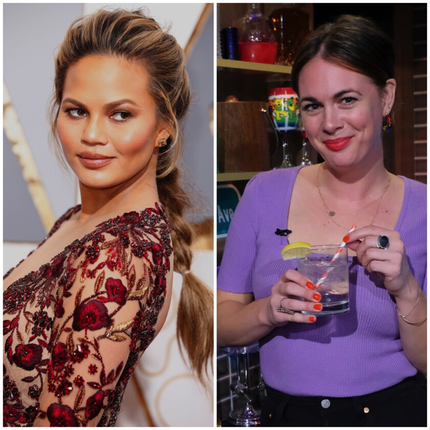 Chrissy Teigen, left, and Alison Roman