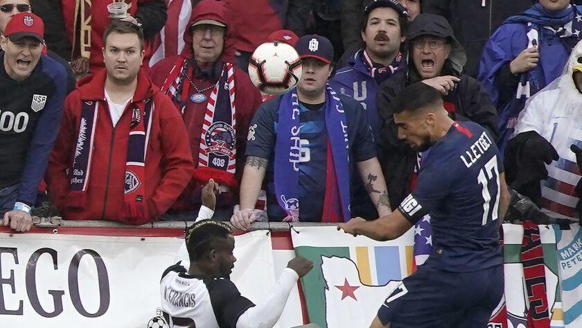 United States defender Sebastian Lletget (17) scores a goal over Costa Rica defender Waylon Francis