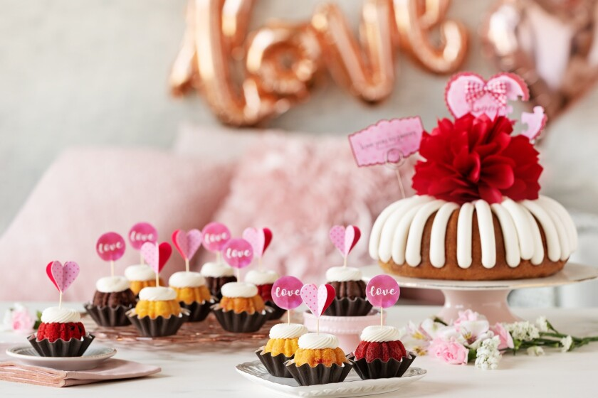 Nothing Bundt Cakes' Valentine's Day offerings.