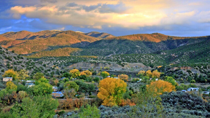Fall foliage brings a burst of color to the village of Pilar, N.M., not far from Taos.