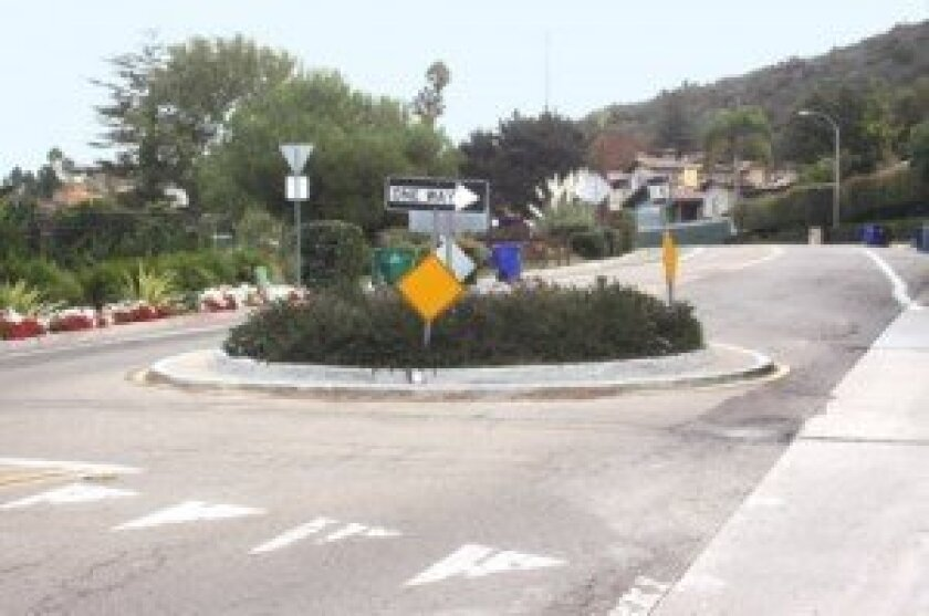 A traffic choker on Via Capri is similar to what's planned for West Muirlands Avenue. Ashley Mackin
