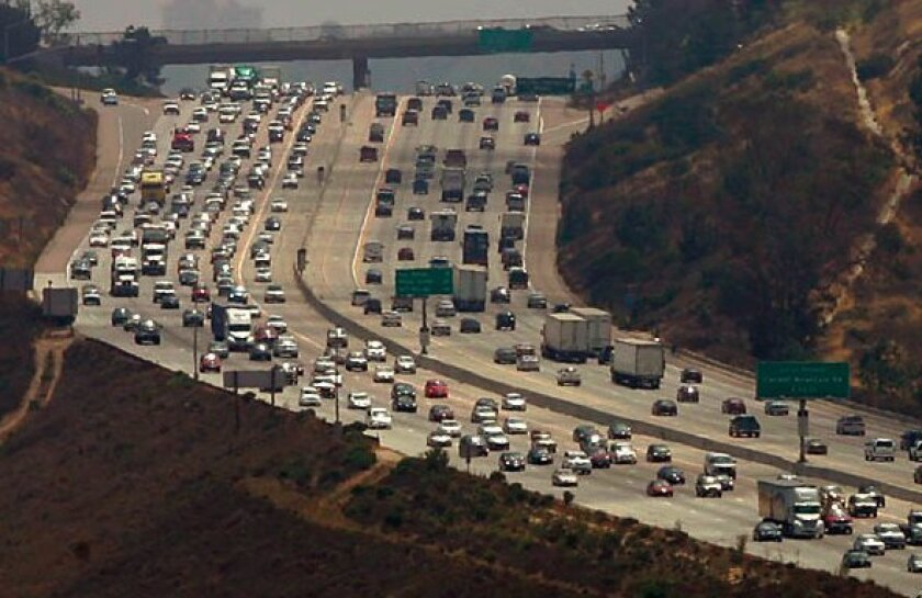 The majority of pollution in San Diego is created by emissions from vehicles.