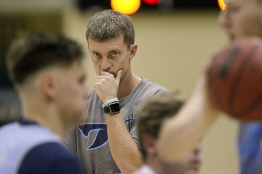USD coach Sam Scholl will have to get his team ready to play Cal State Fullerton either Saturday or Sunday.