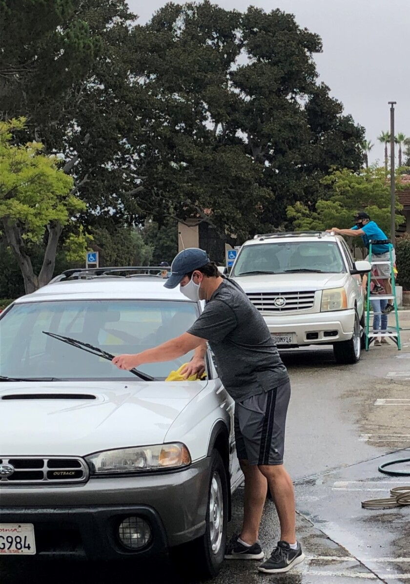 Car wash and drive-thru collection for homeless veterans