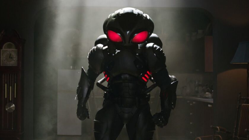 This image released by Warner Bros. Pictures shows the character Manta, portrayed by Yahya Abdul-Mat