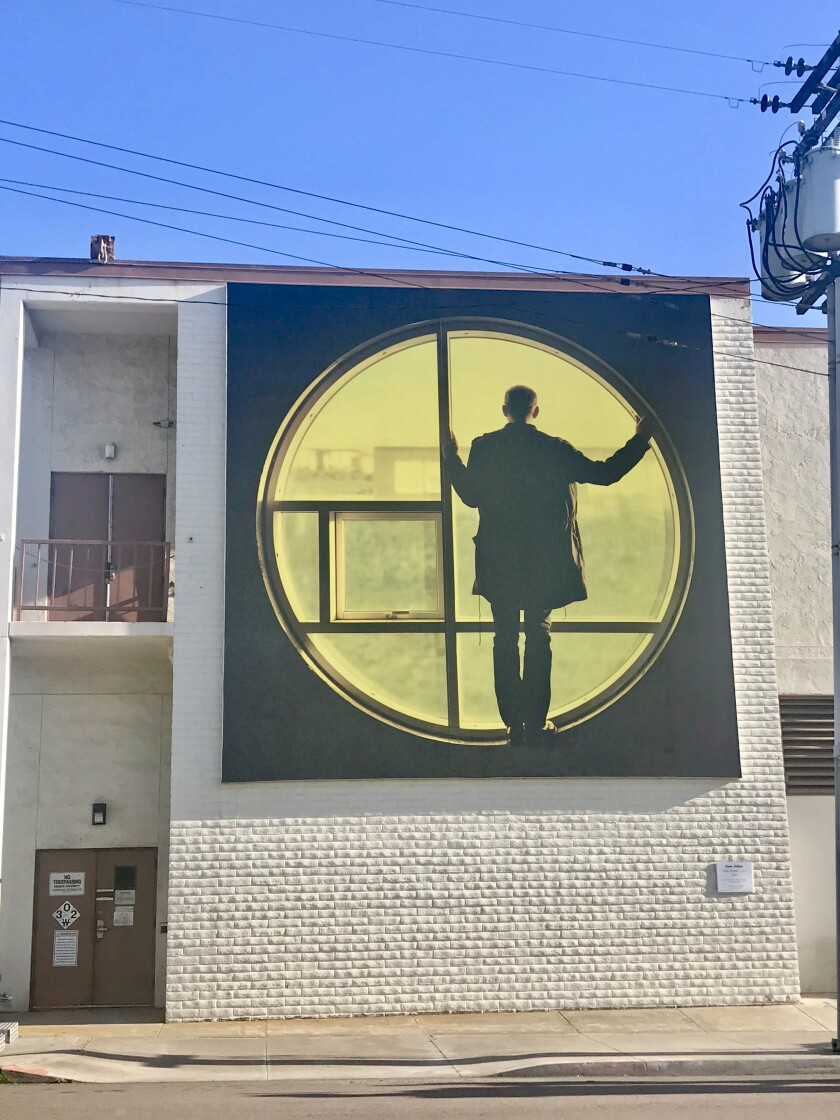 British artist Isaac Julien's 'ECLIPSE (PLAYTIME)' was installed March 30 at 7569 Girard Ave.