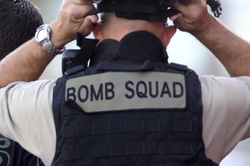 File photo: Bomb squad member.