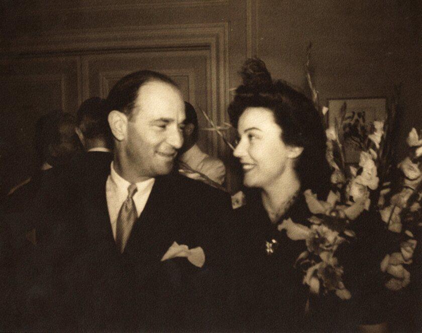 "A photograph of Fay Wray and Robert Riskin featured in the book ""Fay Wray and Robert Riskin: A Hollywood Memoir"""