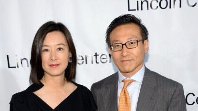 Clara Wu Tsai and Joseph Tsai attend the Great American Songbook event honoring Bryan Lourd at Alice