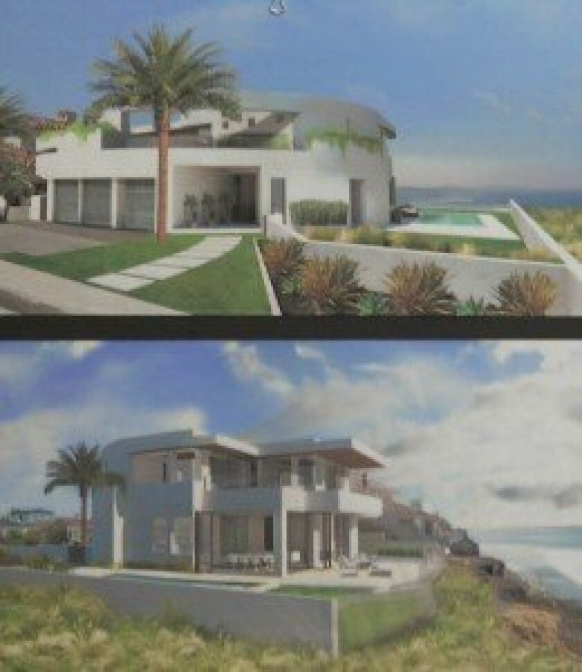 Development Permit Review committee members unanimously approved plans to rebuild the Harbach residence, located on environmentally sensitive coastal land in Bird Rock.