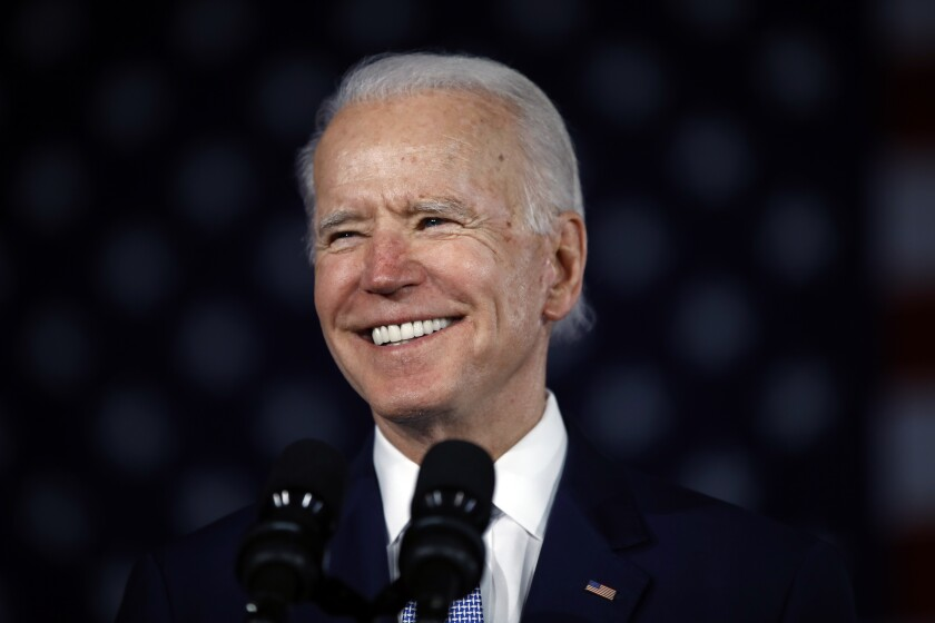 Democratic presidential candidate former Vice President Joe Biden speaks at a primary night election rally in Columbia, S.C., Saturday, Feb. 29, 2020. (AP Photo/Matt Rourke)