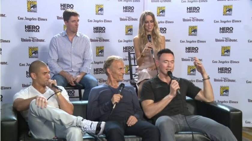 "Cast of FX show ""The Strain"" sits down with the Los Angeles Times' Hero Complex"