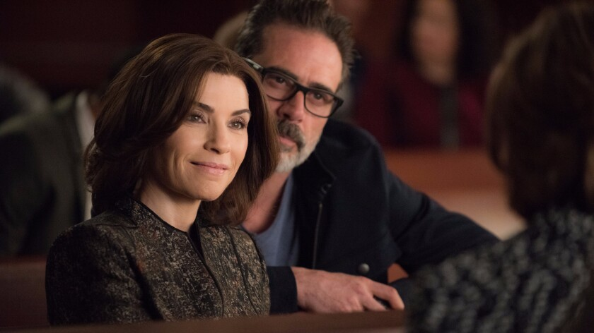 """Jeffrey Dean Morgan on """"The Good Wife,"""" with Julianna Margulies."""