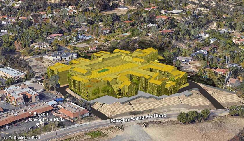 The Encinitas Residents for Responsible Development created this rendering of the proposed Encinitas Apartment