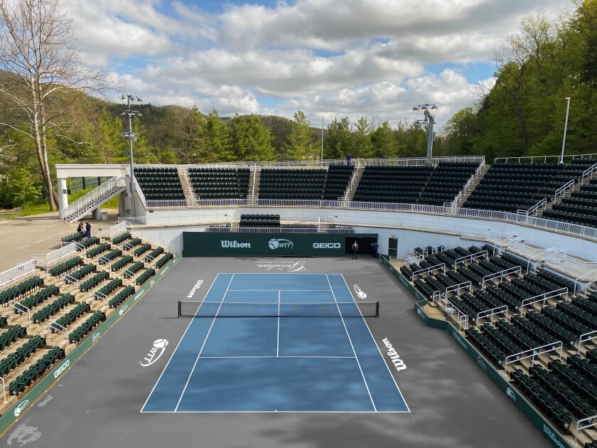 Center court at Creekside, The Greenbrier