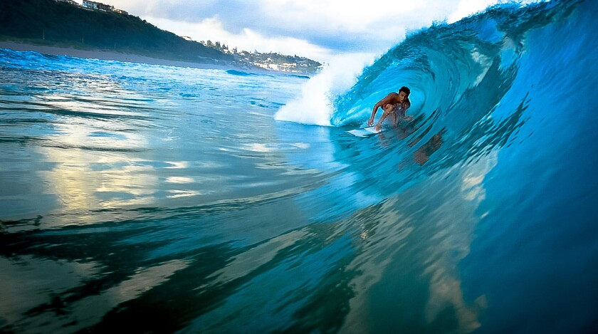 Tyler James is a competitive surfer.