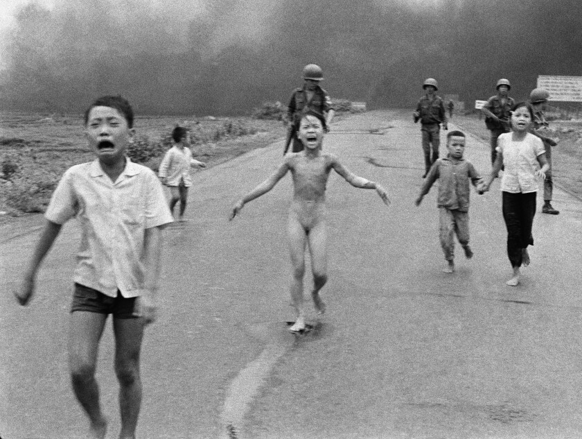 In 1972, Nick Ut made this historic picture of Vietnamese children fleeing an attack.