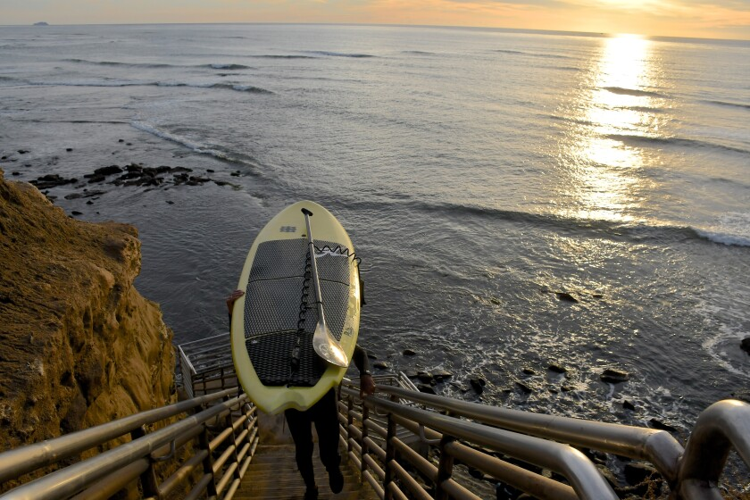 Sunset Cliffs, Point Loma, in San Diego, a common California road trip destination.