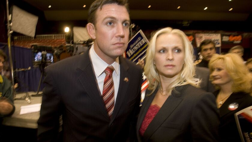 November 4, 2008_San Diego_California_USA_Duncan Hunter and wife Margaret at Election Central in Gol