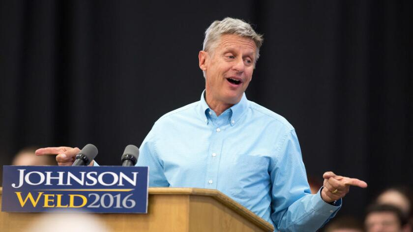 Foto de Gary Johnson, candidato del Partido Libertario.