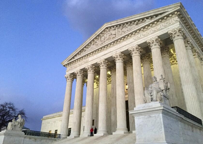 La Corte Suprema en Washington. (AP Photo/Jon Elswick, file)