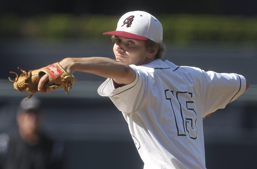 """""""Honestly, I didn't sleep much Thursday,"""" Classical Academy pitcher Vince Marcantonio said Friday after recording a win over Orange Glen at Petco Park."""