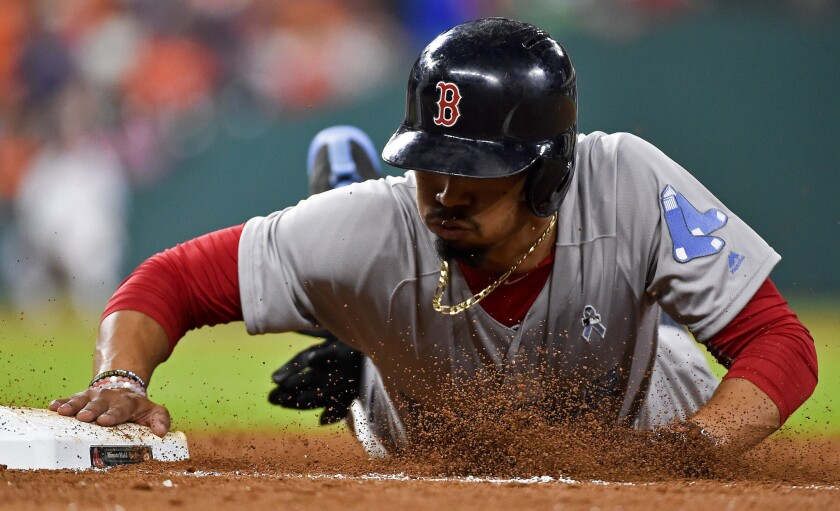The Boston Red Sox sent Mookie Betts to the Dodgers as part of a three-team trade that also involved the Minnesota Twins.