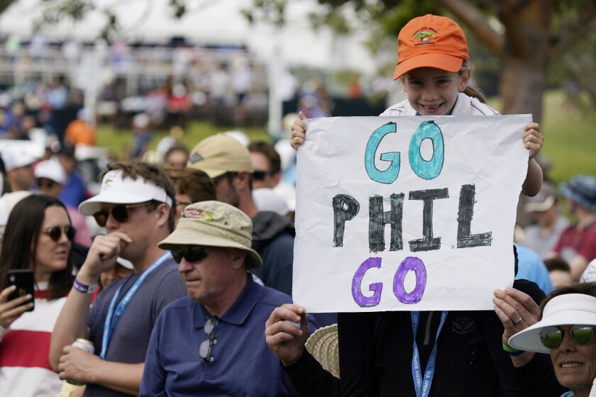 Phil Mickelson had support from his hometown fans this week at the U.S. Open.