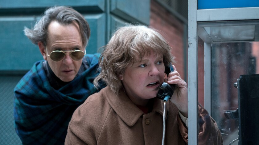 "(L-R) - Richard E. Grant as ""Jack Hock"" and Melissa McCarthy as ""Lee Israel"" in the film ""CAN YOU EV"