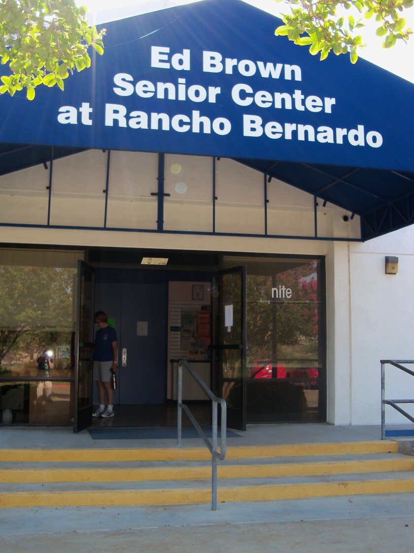 The Ed Brown Center for Active Adults in Rancho Bernardo Community Park.