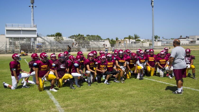 Southwest coach Paco Silva speaks to his team during their practice.