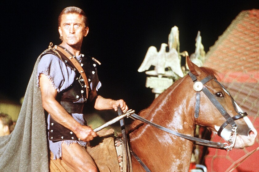 "Kirk Douglas in the 1960 epic ""Spartacus"" on TCM."