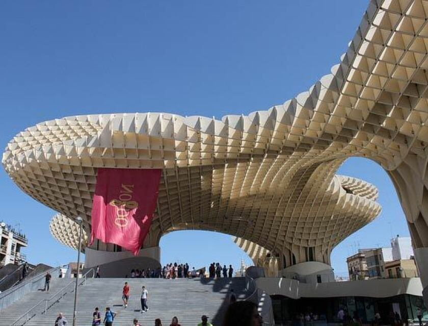 Metropol Parasol houses a museum, several bars, restaurants and a rooftop terrace.