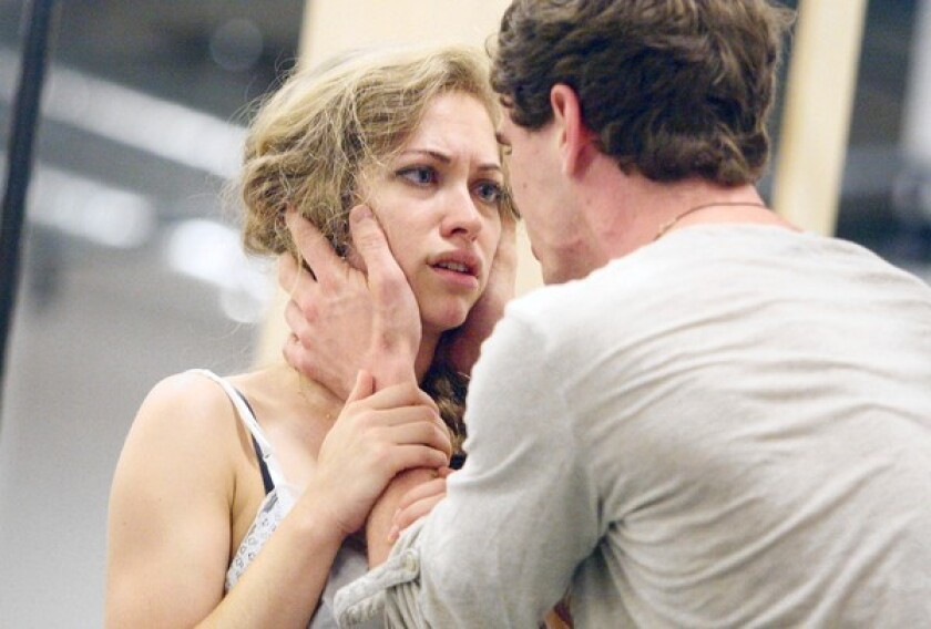 """Talisa Friedman and Jay Armstrong Johnson in the musical """"The Last Goodbye"""" at the Old Globe in San Diego."""