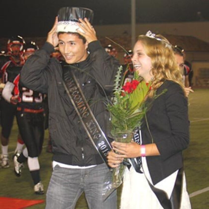 2012 La Jolla High Homecoming King Zach Ohara and Queen Katie Harmeyer.