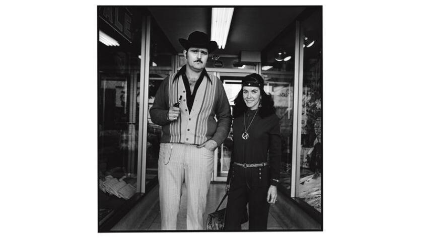 """Photographer Dennis Feldman spent several yearscapturing the quirk ofHollywood's denizens, includingthis nattily dressedpair. Hisimages have now been published in the new book """"Hollywood Bouelvard, 1969-1972."""""""