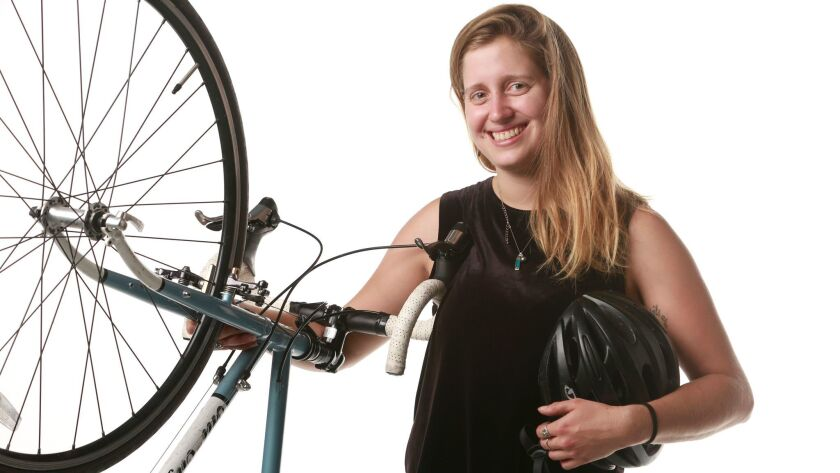 Chelsea Hunter, Carlsbad program coordinator for the San Diego County Bicycle Coalition.