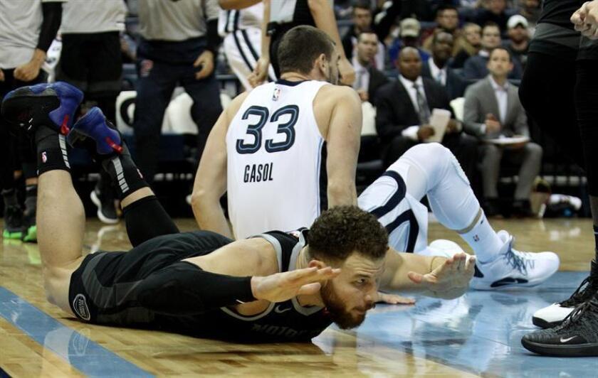 Blake Griffin, Detroit Pistons, durante el partido disputado contra Memphis Grizzlies. EFE