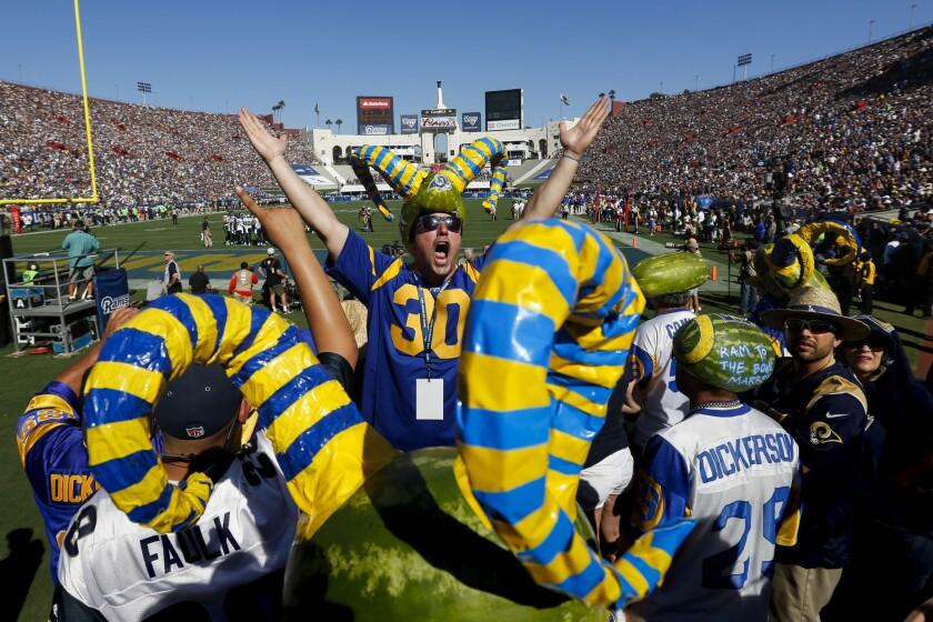 NFL Football - LA Rams vs Seattle Seahawks SEP 18