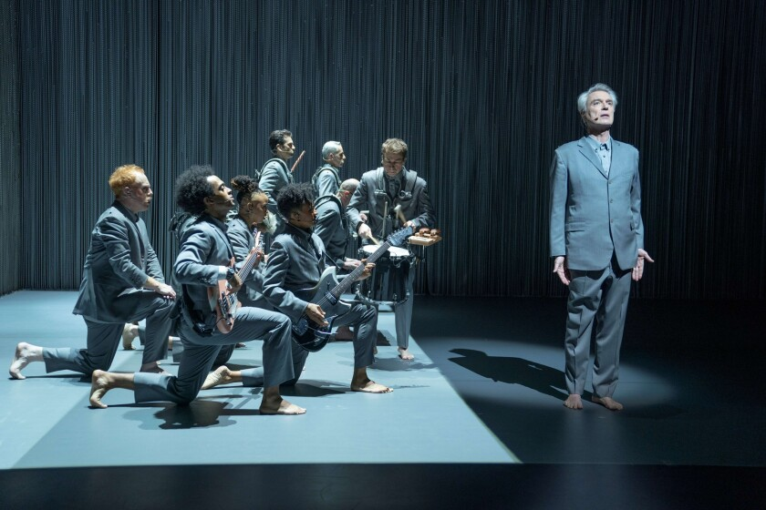 """""""David Byrne's American Utopia,"""" directed by Spike Lee, adapts the Broadway show with electrifying results."""