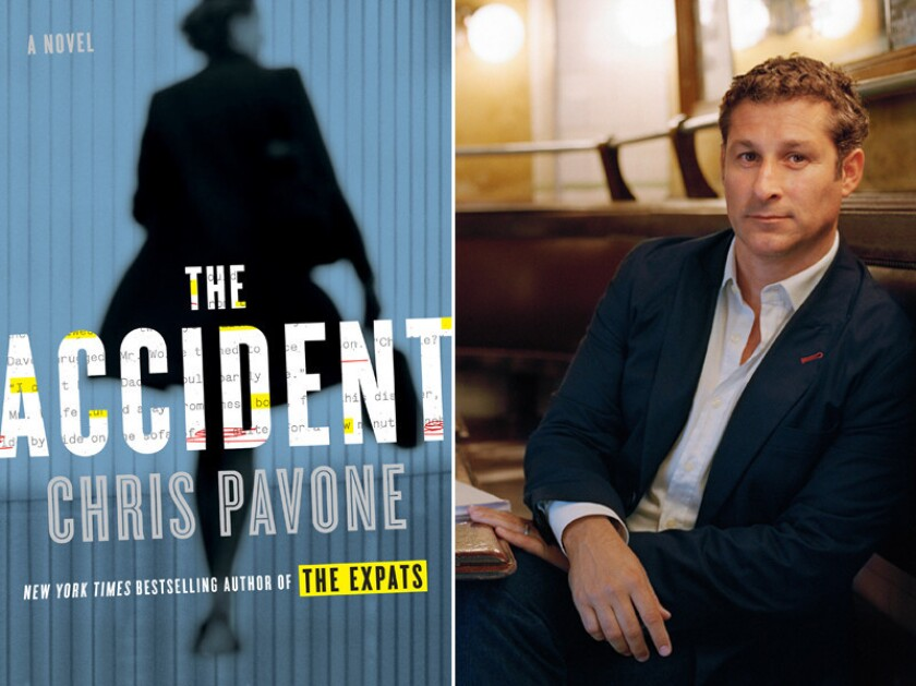 """The cover of """"The Accident"""" and author Chris Pavone."""