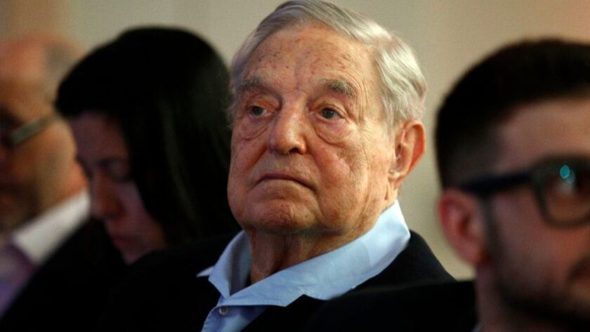 George Soros, founder and chairman of the Open Society Foundations, attends the European Council on Foreign Relations' annual meeting in Paris on May 29.