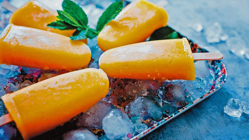 Creamy Dreamy Summer Peach Popsicle