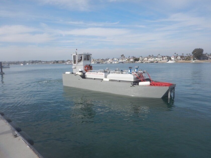 Hill's Boat Service has just launched its new fuel tanker. The vessel's name at this time is Tanker II.
