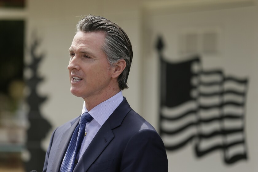 California Gov. Gavin Newsom plans to send mail ballots for the November election to every registered voter in the state.