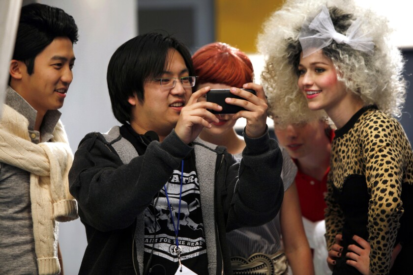 "Freddie Wong on the set of ""Video Game High School"""