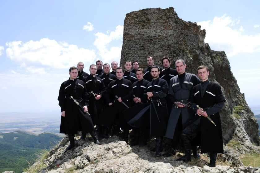 Basiani, the State Ensemble of Georgian Folk Singing, is making its third visit to the U.S. with stops scheduled for Oct. 22 in Santa Monica and Oct. 23 in Santa Barbara.